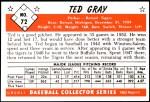 1953 Bowman REPRINT #72  Ted Gray  Back Thumbnail