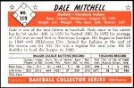 1953 Bowman REPRINT #119  Dale Mitchell  Back Thumbnail