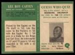 1966 Philadelphia #81  Lee Roy Caffey  Back Thumbnail