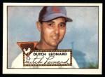 1952 Topps REPRINT #110  Dutch Leonard  Front Thumbnail