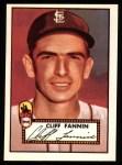 1952 Topps REPRINT #285  Cliff Fannin  Front Thumbnail