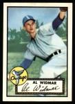 1952 Topps REPRINT #133  Al Widmar  Front Thumbnail