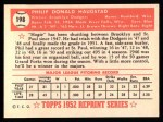 1952 Topps REPRINT #198  Phil Haugstad  Back Thumbnail