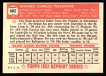 1952 Topps REPRINT #405  Eddie Pellagrini  Back Thumbnail
