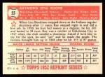 1952 Topps REPRINT #55  Ray Boone  Back Thumbnail