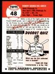 1953 Topps Archives #48  Bobby Del Greco  Back Thumbnail