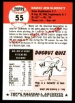 1953 Topps Archives #55  Maurice McDermott  Back Thumbnail