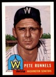 1953 Topps Archives #219  Pete Runnels  Front Thumbnail
