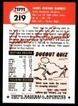 1953 Topps Archives #219  Pete Runnels  Back Thumbnail