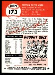 1953 Topps Archives #173  Preston Ward  Back Thumbnail