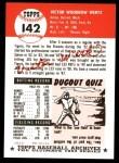 1953 Topps Archives #142  Vic Wertz  Back Thumbnail