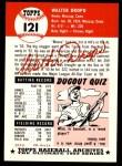 1953 Topps Archives #121  Walt Dropo  Back Thumbnail