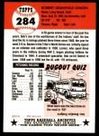 1953 Topps Archives #284  Bob Lemon  Back Thumbnail