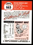 1953 Topps Archives #165  Billy Hoeft  Back Thumbnail