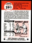 1953 Topps Archives #291  Hoot Evers  Back Thumbnail