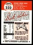 1953 Topps Archives #232  Dick Kokos  Back Thumbnail