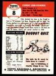 1953 Topps Archives #8  Clem Koshorek  Back Thumbnail