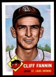 1953 Topps Archives #203  Cliff Fannin  Front Thumbnail