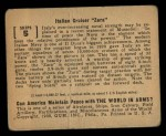 1939 Gum Inc. World In Arms #5 S  Italian Cruiser Zara Back Thumbnail