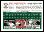 1954 Topps Archives #55  Phil Cavarretta  Back Thumbnail
