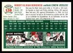 1954 Topps Archives #138  Bob Borkowski  Back Thumbnail