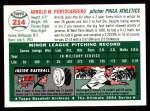 1954 Topps Archives #214  Arnold Arnie  Portocarrero  Back Thumbnail