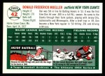 1954 Topps Archives #42  Don Mueller  Back Thumbnail