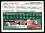 1954 Topps Archives #152  Mike Blyzka  Back Thumbnail
