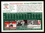 1954 Topps Archives #72  Preston Ward  Back Thumbnail