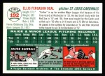 1954 Topps Archives #192  Cot Deal  Back Thumbnail