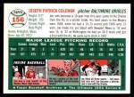 1954 Topps Archives #156  Joe Coleman  Back Thumbnail