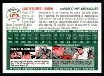 1954 Topps Archives #103  Jim Lemon  Back Thumbnail