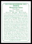 1978 TCMA The Stars of the 1960s #227  Vic Wertz  Back Thumbnail