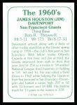 1978 TCMA The Stars of the 1960s #131  Jim Davenport  Back Thumbnail