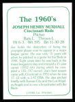 1978 TCMA The Stars of the 1960s #65  Joe Nuxhall  Back Thumbnail
