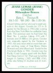 1978 TCMA The Stars of the 1960s #122  Jesse Gonder  Back Thumbnail