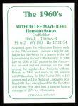 1978 TCMA The Stars of the 1960s #107  Lee Maye  Back Thumbnail
