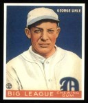 1933 Goudey Reprint #100  George Uhle  Front Thumbnail