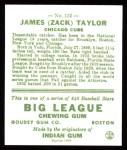 1933 Goudey Reprint #152  Zack Taylor  Back Thumbnail