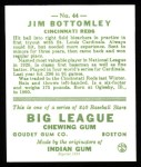 1933 Goudey Reprint #44  Jim Bottomley  Back Thumbnail