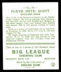 1933 Goudey Reprint #70  Floyd Scott  Back Thumbnail