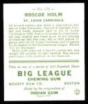 1933 Goudey Reprint #173  Roscoe Holm  Back Thumbnail