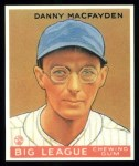 1933 Goudey Reprint #156  Danny MacFayden  Front Thumbnail