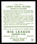 1933 Goudey Reprint #211  Hack Wilson  Back Thumbnail