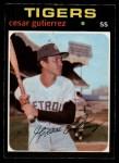 1971 O-Pee-Chee #154  Cesar Gutierrez  Front Thumbnail