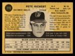 1971 O-Pee-Chee #273  Pete Richert  Back Thumbnail