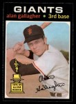 1971 O-Pee-Chee #224  Alan Gallagher  Front Thumbnail