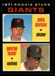1971 O-Pee-Chee #276   -  Mike Davison / George Foster Giants Rookies Front Thumbnail