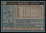 1980 Topps #36  Rusty Torres  Back Thumbnail