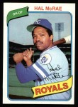 1980 Topps #185  Hal McRae  Front Thumbnail